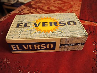 EL VERSO BOUQUET Vintage CIGAR BOX DWG CIGAR CORP 77   Excellent