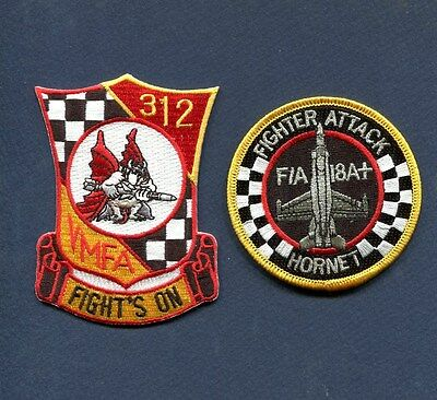 VMFA-312 CHECKERBOARDS USMC MARINE CORPS F-18 F-18A+ HORNET Squadron Patch Set