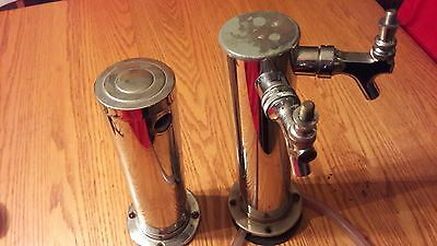 Double 2 tap stainless kegerator tower plus extra tower