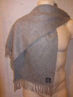 """Morgan & Oates 100% Cashmere Made in the UK Gray Woven Scarf 11.5"""" x 54"""""""