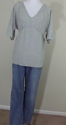MATERNITY Outfit ~ OLD NAVY MATERNITY Jeans & Gray V-Neck Shirt Top ~ LARGE