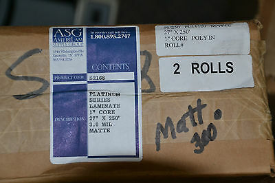 27 inch lamination roll 3.0 matte laminating film 27 inch x 250 ft, 1 inch core