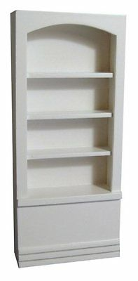 Doll House 1/12Th Scale White Back Wall Shelves
