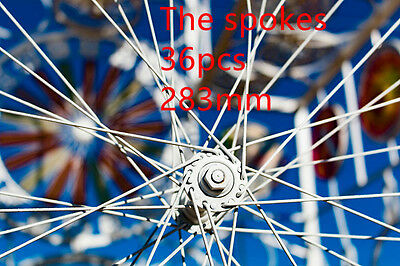 36 pack  spokes with nipples  bike bicycle 283mm wheel Alloy 14# Raw wire