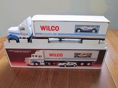 VINTAGE 1993 WILCO TOY Truck AND RACER NEW IN BOX NIB LIGHTS+FRICTION MOTOR hess