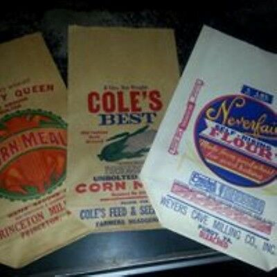 Quality Queen, Cole's Best Corn Meal Sack and Neverfail Self-Rising Flour Sack