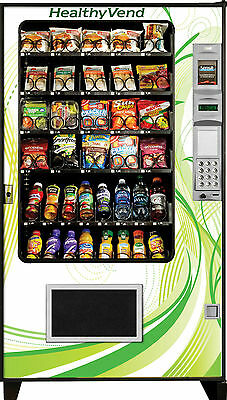 A M S Healthy Combo Vending Machine Glass Front Drink/Snack Made in America