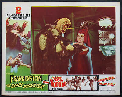 Frankenstein Meets The Space Monster Double-Feature Horror 1965 Lobby Card #6