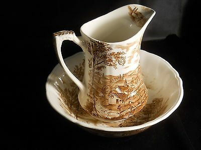 Alfred Meakin Reverie  Bowl with Pitcher