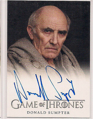 2015 Game of Thrones Season 4 Full Bleed Autographs Donald Sumpter Maester Luwin