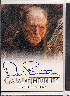 2015 Game of Thrones Season 4 Full Bleed Autographs David Bradley as Walder Frey