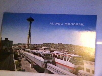 Alweg Monorail First Of Its Kind  Seattle Wa.old Card