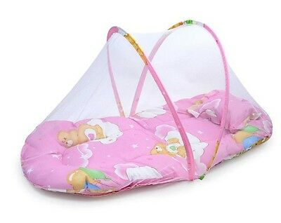 Crib Baby With  Net Foldable Tent Bed Cotton-padded Mattress Anti-Insect Bites