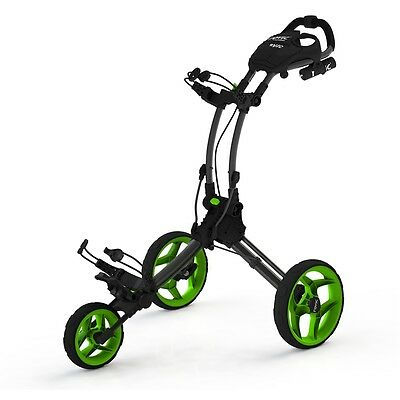 New Clicgear Rovic Rv1C Golf Push Cart - Charcoal/lime