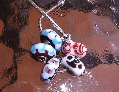 GENUINE TROLLBEADS 'RETIRED SET OF 5 the singers beads ALSO KNOWN AS RETRO