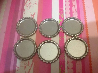 200 x 1 inch Flattened Silver Linerless Bottle Caps