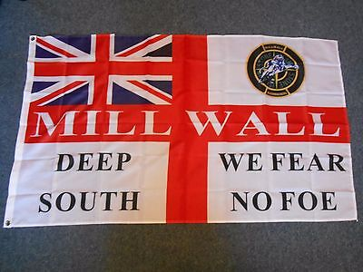 Millwall Bushwackers F Troop Treatment  3 X 5Ft Flag Casuals Ultras Deep South