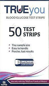 Trueyou Blood Glucose Test Strips,pack of 50