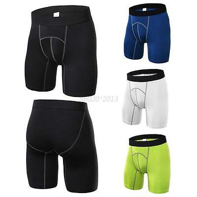 Men Boy Sports Short Pants Tights Compression Base Layer Running Fitness Running