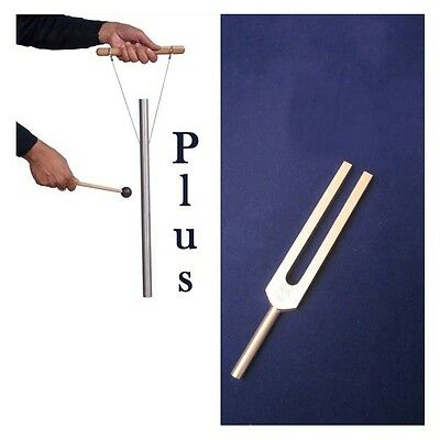 """432 Hz Tuning Fork & 432 Hz 23"""" Tuned Pipe for Harmony and Relaxation therapy"""