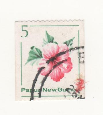 1981 Papua New Guinea Coil stamps perf 14.5 x imperf. -  5c Flower SG#407 used
