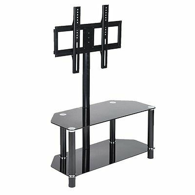 Tempered Glass TV Stand TV Bracket For 32 to 48 Inches Plasma LCD With Shelves
