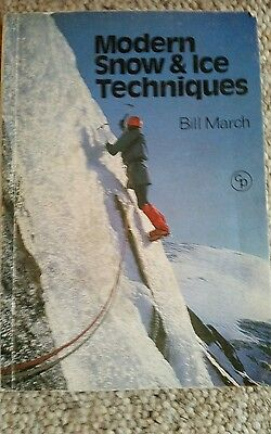 Modern Snow & Ice Techniques By Bill March (1973 Paperback Book)