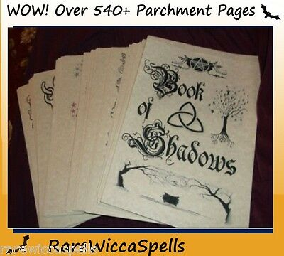 ClearancePriced* Spell BOOK OF SHADOWS Over 500 Parch Pgs Wicca Pagan Rituals