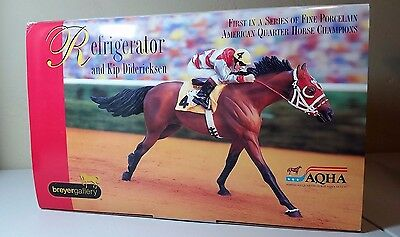 New in Box Breyer Refrigerator Limited Edition Fine Porcelain Race Horse w Rider