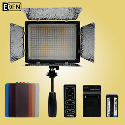 Yongnuo YN-300II 3200k-5500k LED Video Light +NP-F750 battery +NP-F550 charger