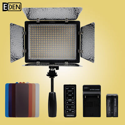 Yongnuo YN-300II 3200k-5500k LED Video Light +NP-F970 battery +NP-F550 charger