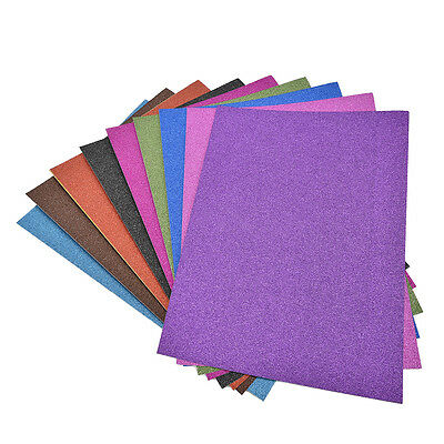 A4 Glitter Card 10 Sheets Same Colour Soft Touch DIY Craft Invitations Party BDA