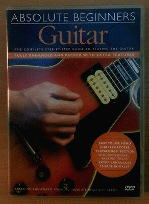 Absolute Beginners Guitar Lesson Guitarra para principiantes DVD + Tutor Book