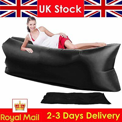 Lazy Bed Hammock Inflatable Air Sofa Chair Hangout Festival Camping Holiday Bag