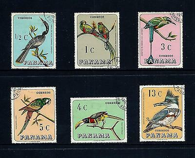 PANAMA _ 1967 'BIRDS' SET of 6 _ used ____(456)