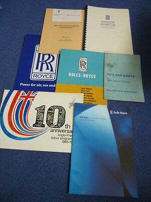 ROLLS-ROYCE, seven different aircraft engine publications, 1960s-1990s (set P)