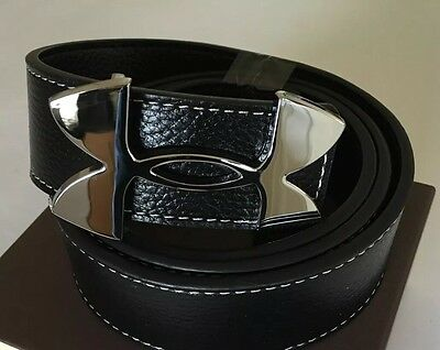 """New & Boxed Mens Under Armour Leather Golf Belt Black  Approx 36""""-40"""""""