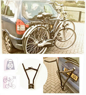 Tow Bar Universsal Bicycle Carrier for 2 Bikes - Quick mount mechanism 72649