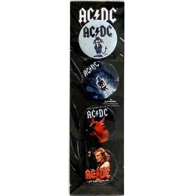 AC/DC Button Badge Set #2 Official Metal Badges New