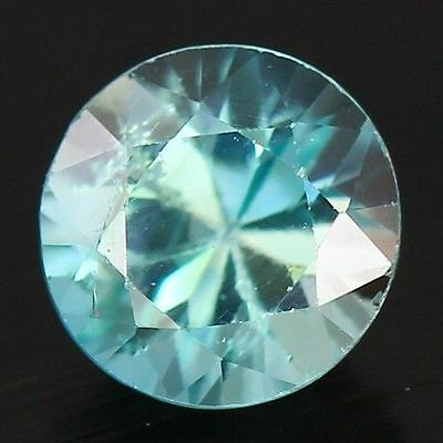 0.805 Cts Full Fire Natural Natural Earth Mine Neon Blue Zircon Loose Gemstone