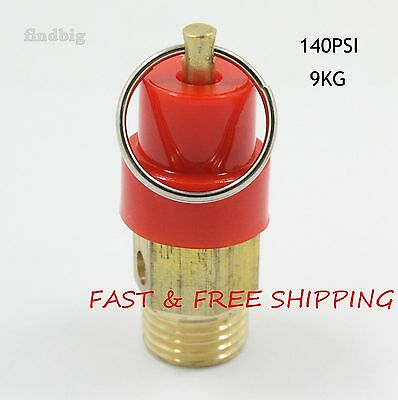 "Air Compressor Safety Relief Pressure Valve 1/4"" NPT 140 PSI 9KG Pop Off"
