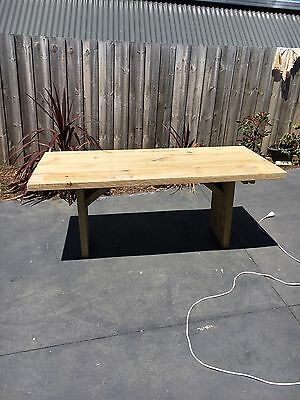 Rustic Outdoor Timber Table