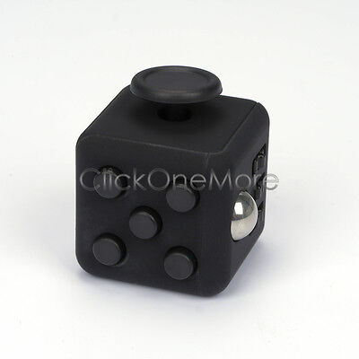 2016 Black Full Fidget Cube 6-side Toy Anxiety Stress Attention Relief Xmas Gift