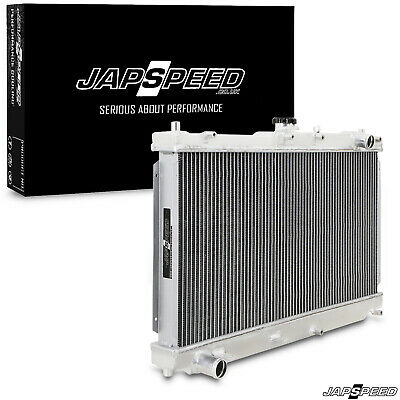 Japspeed 42Mm Aluminium Alloy Twin Core Engine Race Radiator For Mx-5 Mk2 Ii