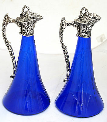 Rare Antique Russian Imperial 84 Silver Set 2 Jug Claret Nikolay Strulev Moscow