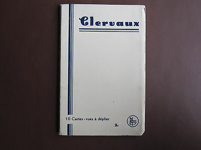 Clervaux - souvenir booklet of 10 post cards in concertina format