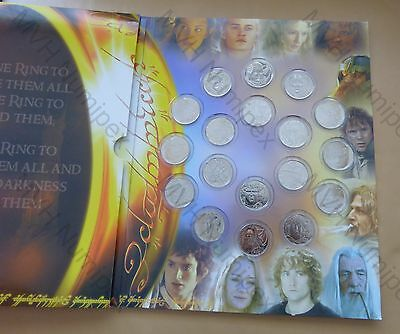 Neuseeland New Zealand 2003 Set 18x50 Cent Unc Lord of the Rings Herr der Ringe