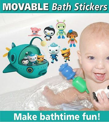 Octonauts Bath Bathroom Ceramic Tile Glass Reusable Stickers Decals