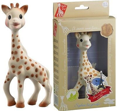 UK Sophie the Giraffe Baby Toddler Kid Child Teether Teething Toy Gift Box