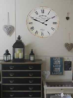 Vintage Style Wall Clock Large 60cm Grand Chateau Hotel